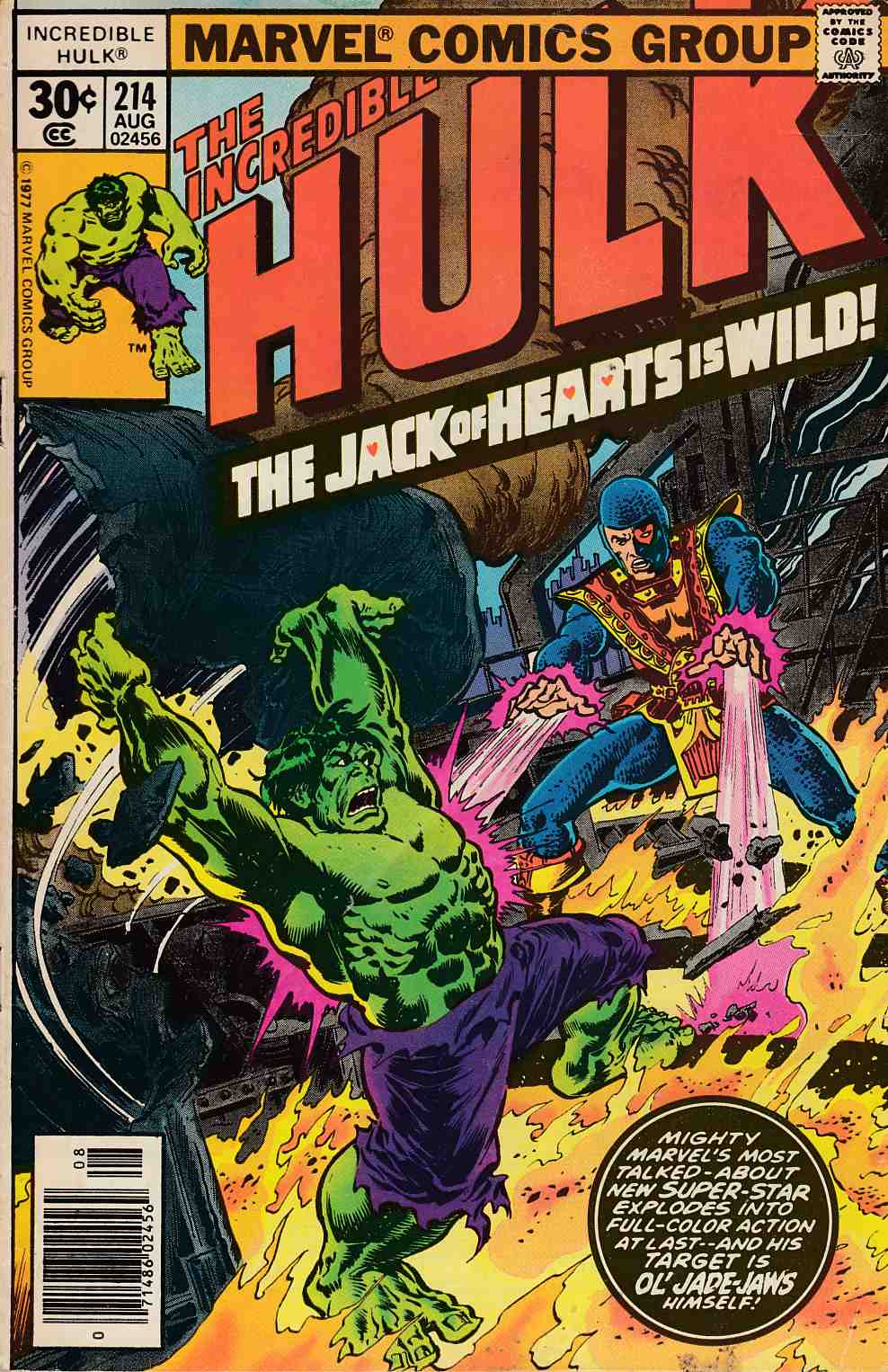 Incredible Hulk #214 Fine Minus (5.5) [Marvel Comic] THUMBNAIL