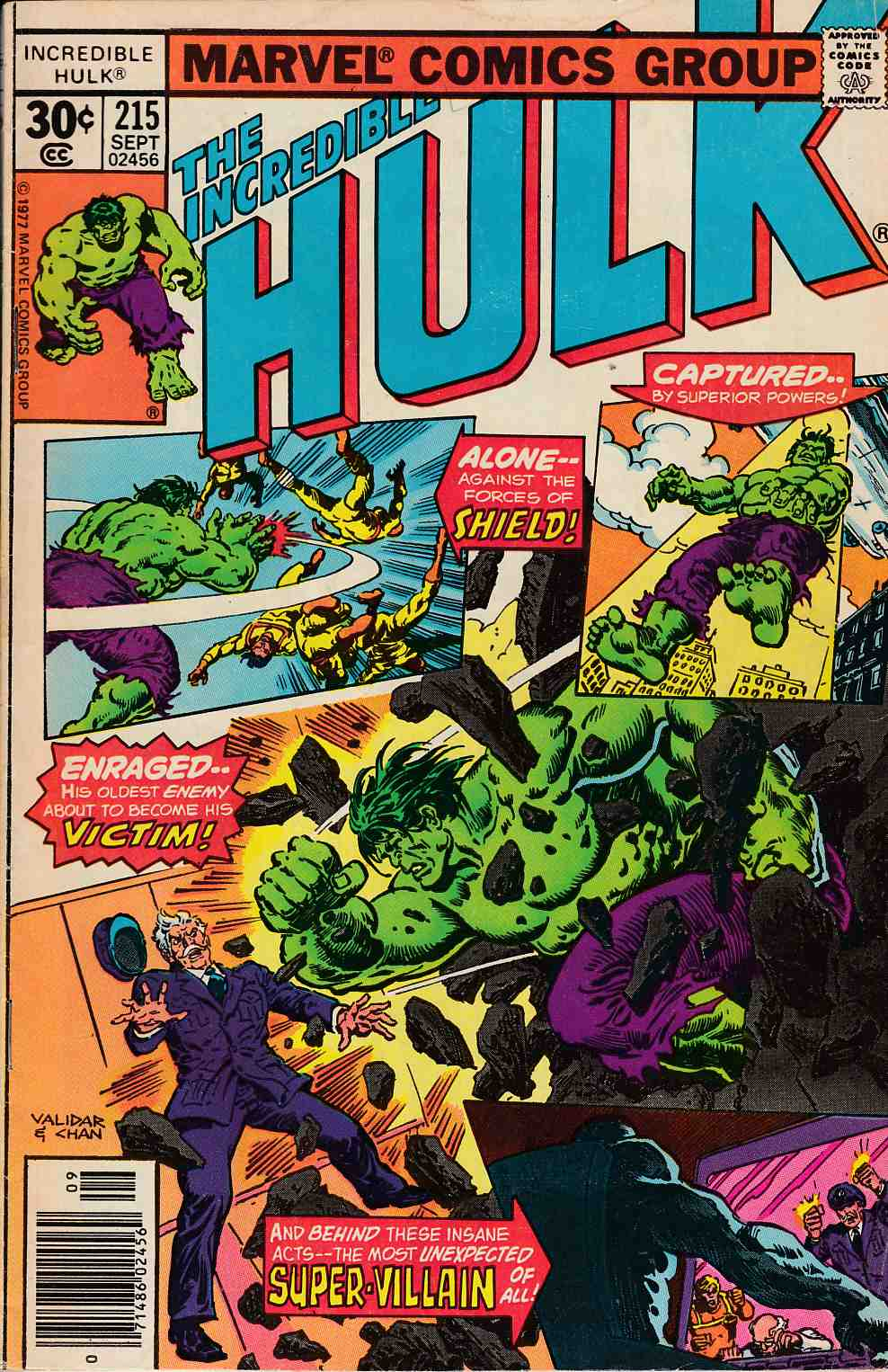 Incredible Hulk #215 Fine Minus (5.5) [Marvel Comic] THUMBNAIL