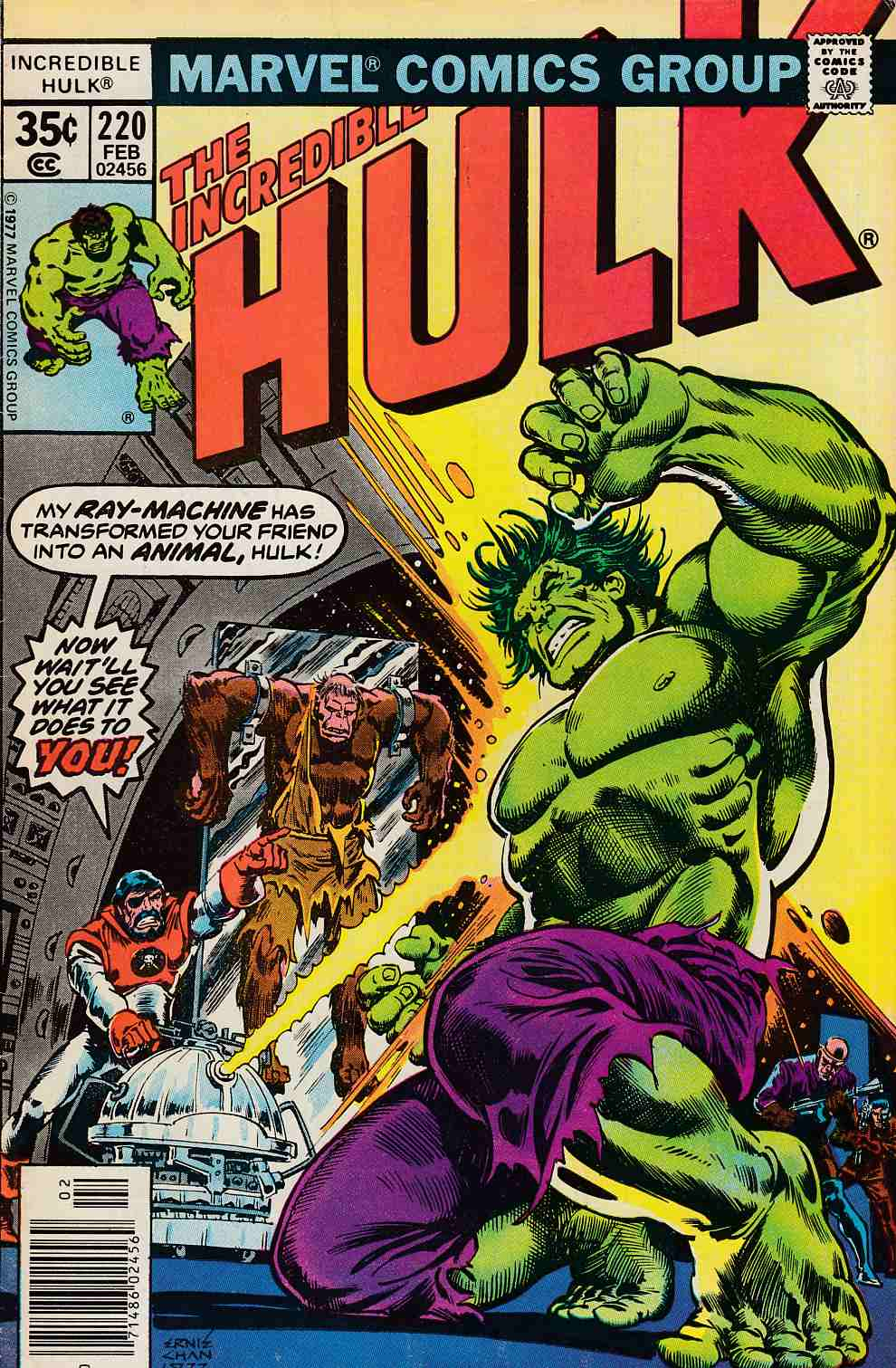 Incredible Hulk #220 Fine (6.0) [Marvel Comic] LARGE