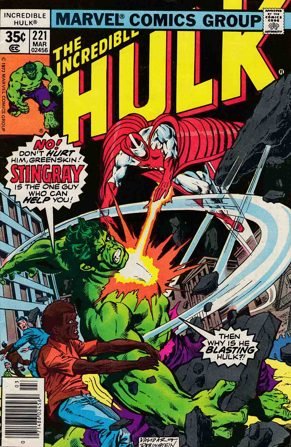 Incredible Hulk #221 Fine (6.0) [Marvel Comic] LARGE