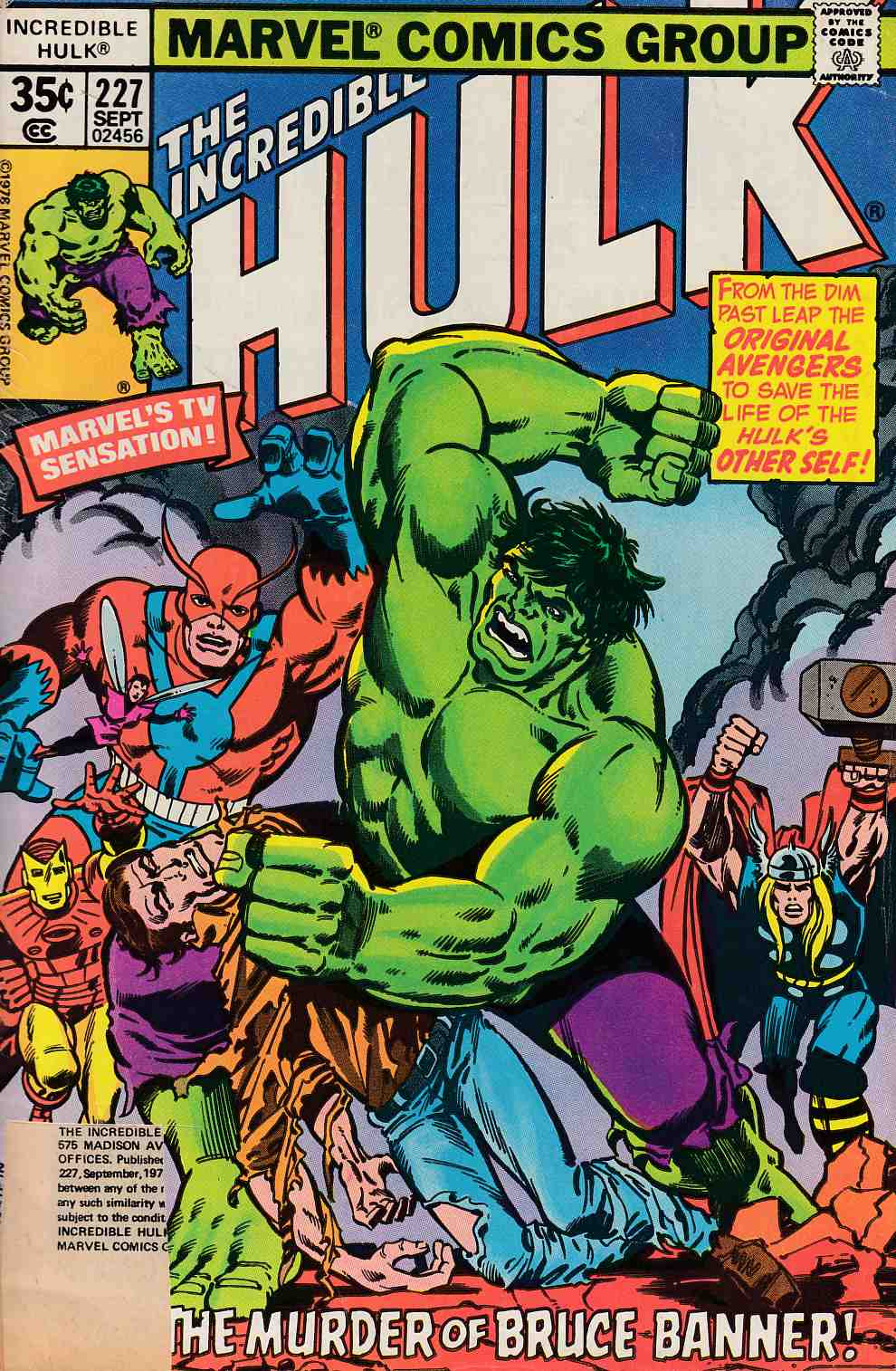 Incredible Hulk #227 Fair (1.0) [Marvel Comic] LARGE