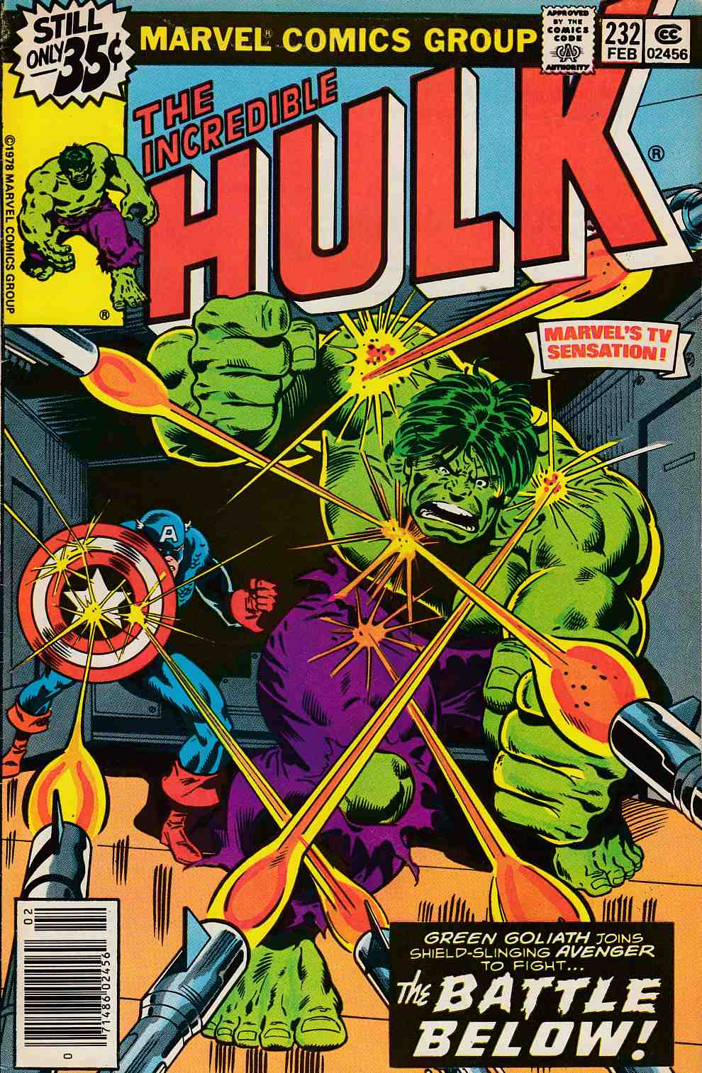 Incredible Hulk #232 Very Fine Minus (7.5) [Marvel Comic] THUMBNAIL