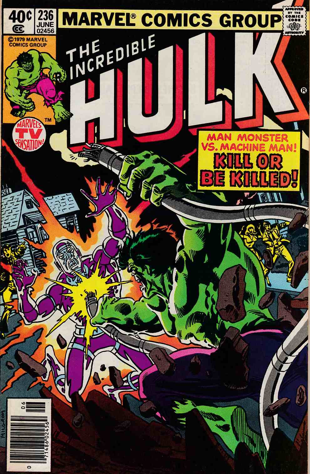 Incredible Hulk #236 Newsstand Edition Very Fine (8.0) [Marvel Comic] THUMBNAIL