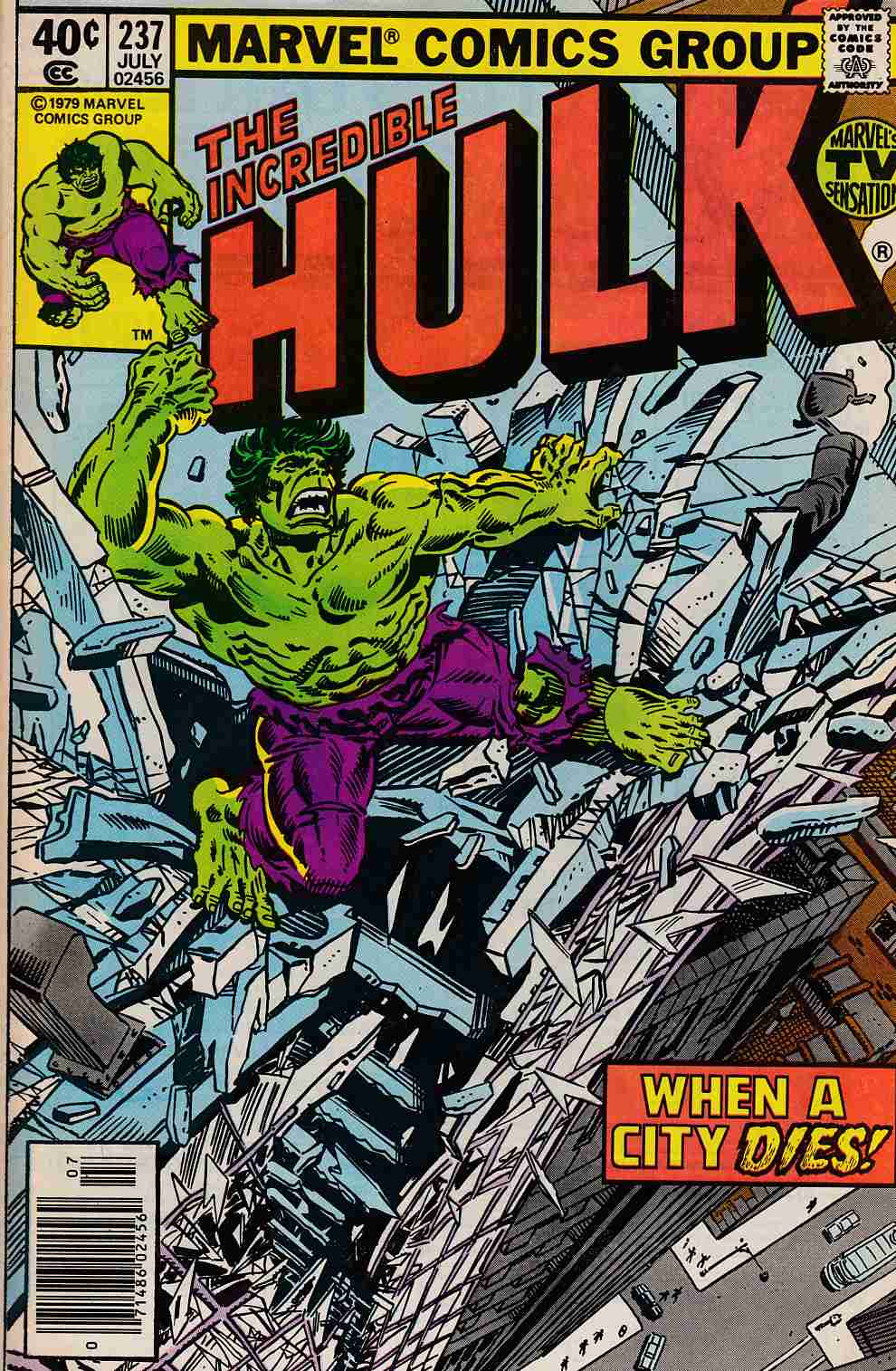 Incredible Hulk #237 Newsstand Edition Very Fine Minus (7.5) [Marvel Comic] THUMBNAIL