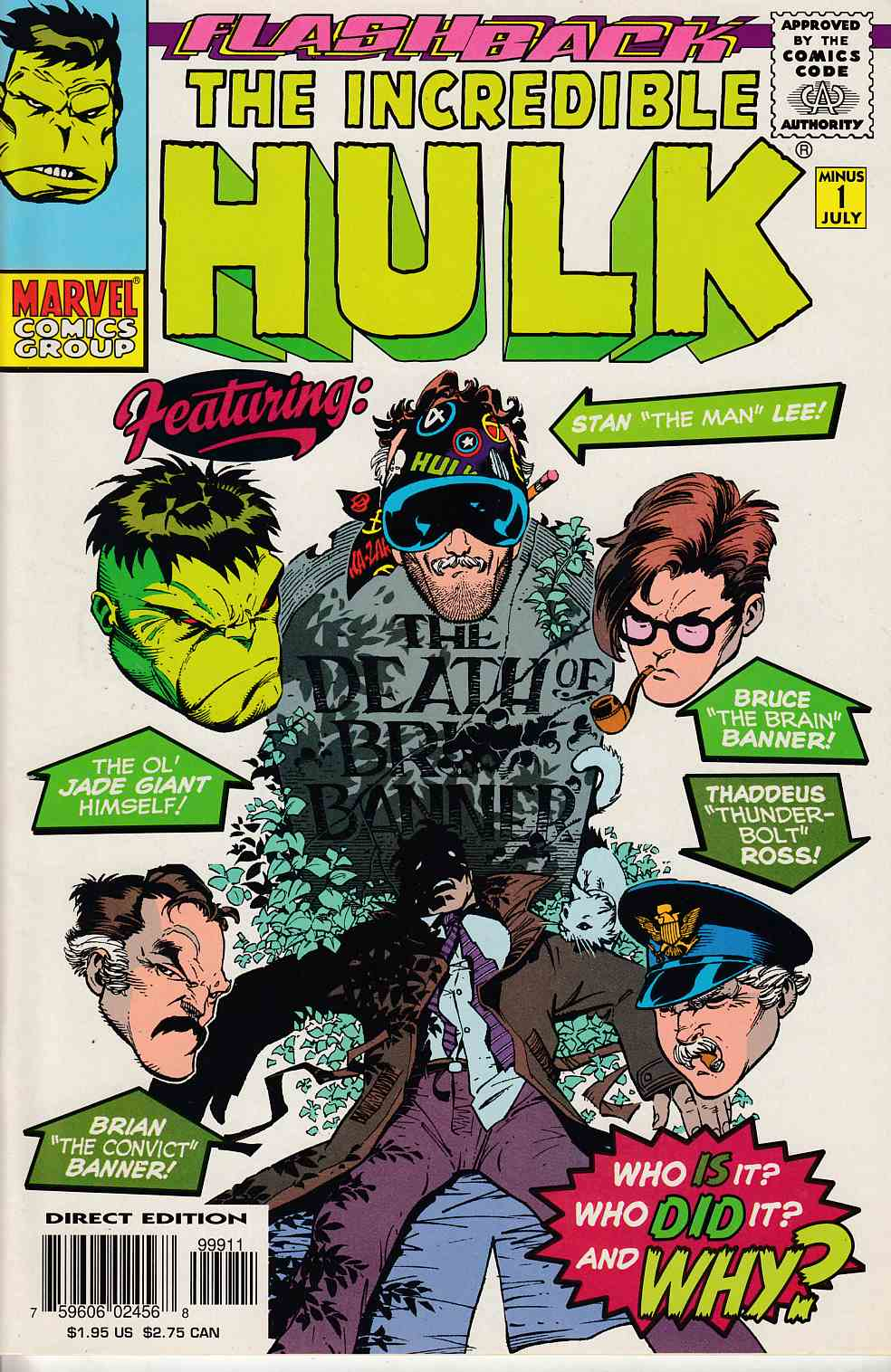 Incredible Hulk #-1 (Minus One) Near Mint (9.4) [Marvel Comic] THUMBNAIL