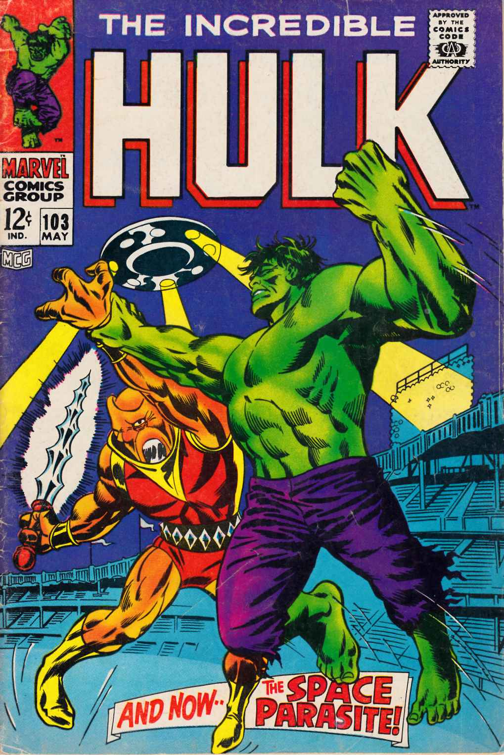 Incredible Hulk #103 Very Good Minus (3.5) [Marvel Comic] THUMBNAIL