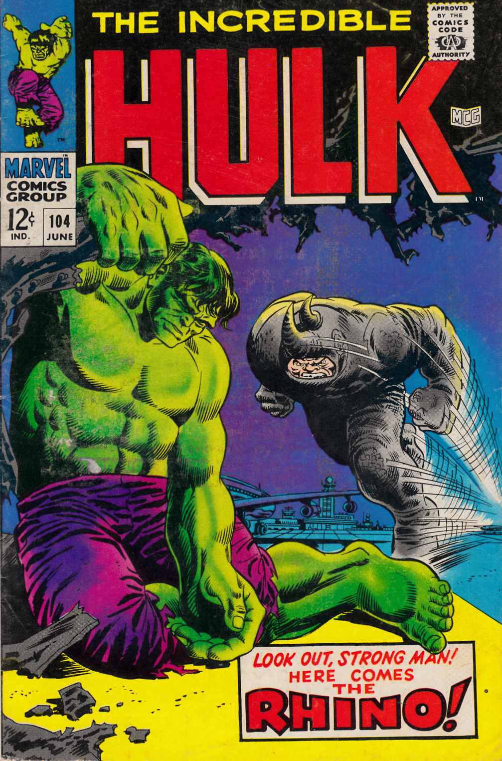 Incredible Hulk #104 Good/Very Good (3.0) [Marvel Comic] THUMBNAIL