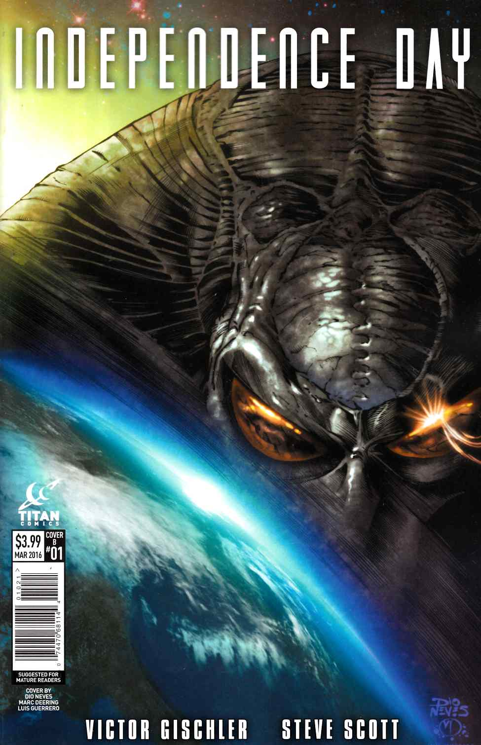 Independence Day #1 Cover B [Titan Comic] LARGE