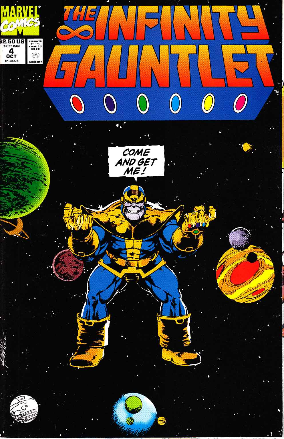 Infinity Gauntlet #4 Near Mint (9.4) [Marvel Comic] THUMBNAIL
