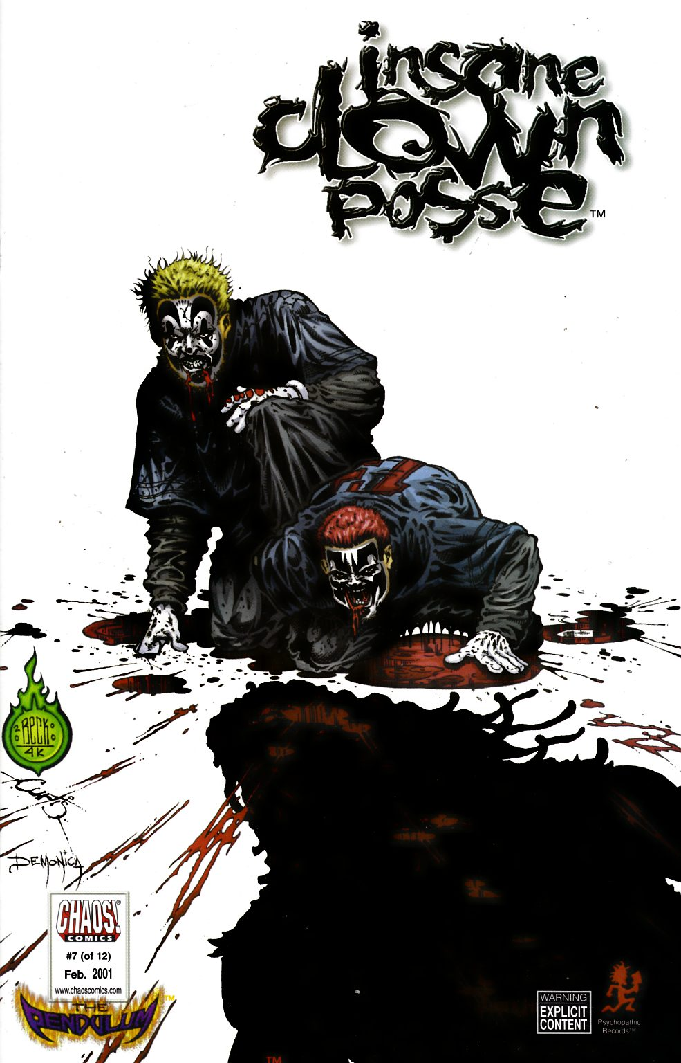 Insane Clown Posse the Pendulum #7 Unbagged Very Fine (8.0) [Chaos Comic] THUMBNAIL