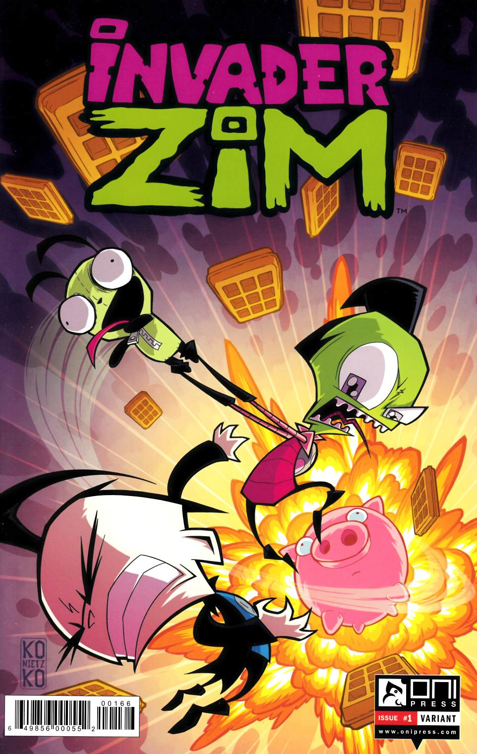 Invader Zim #1 Retailer Exclusive Cover [Oni Press Comic] THUMBNAIL