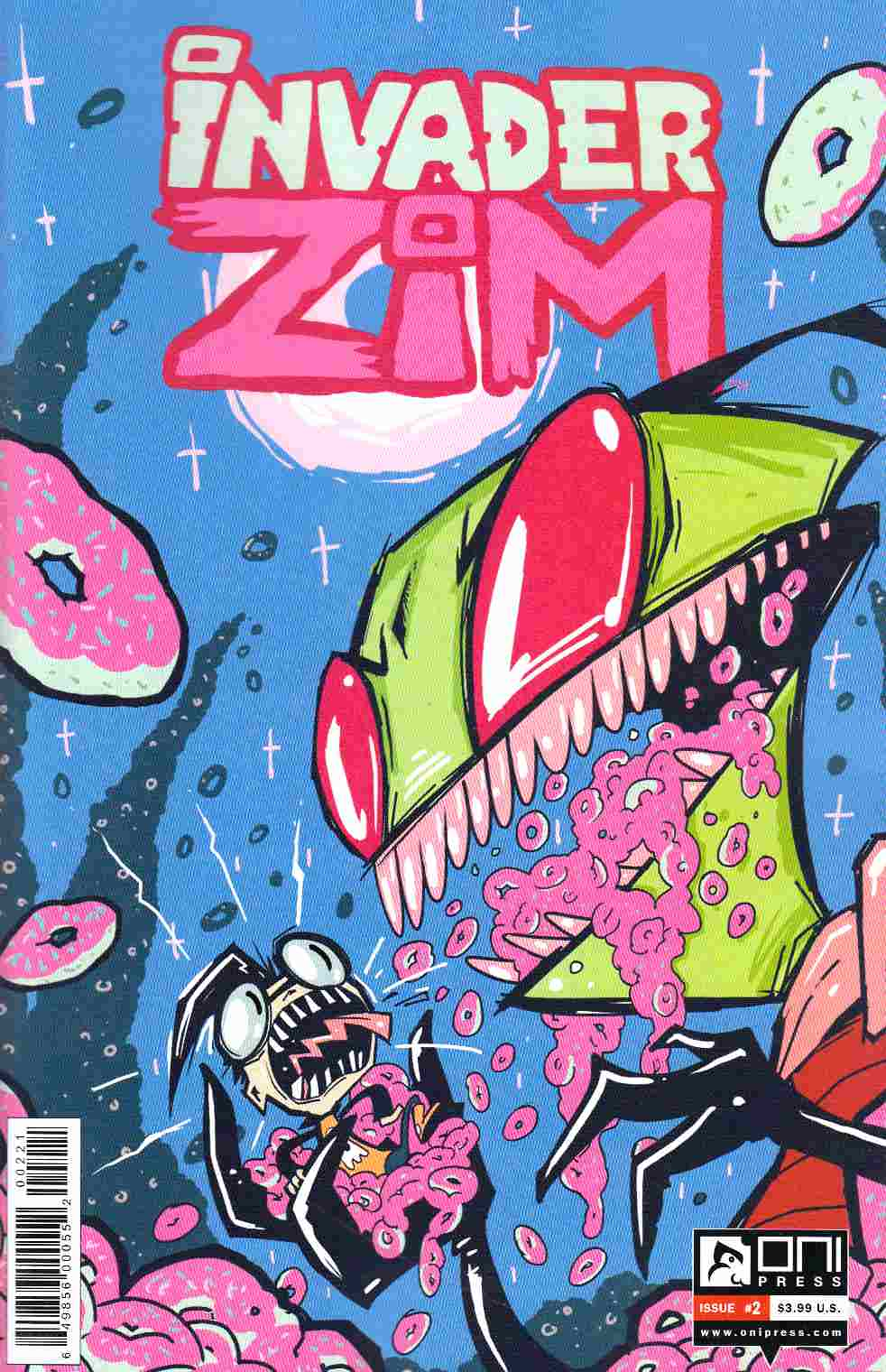 Invader Zim #2 Vasquez Incentive Cover Near Mint (9.4) [Oni Press Comic] THUMBNAIL