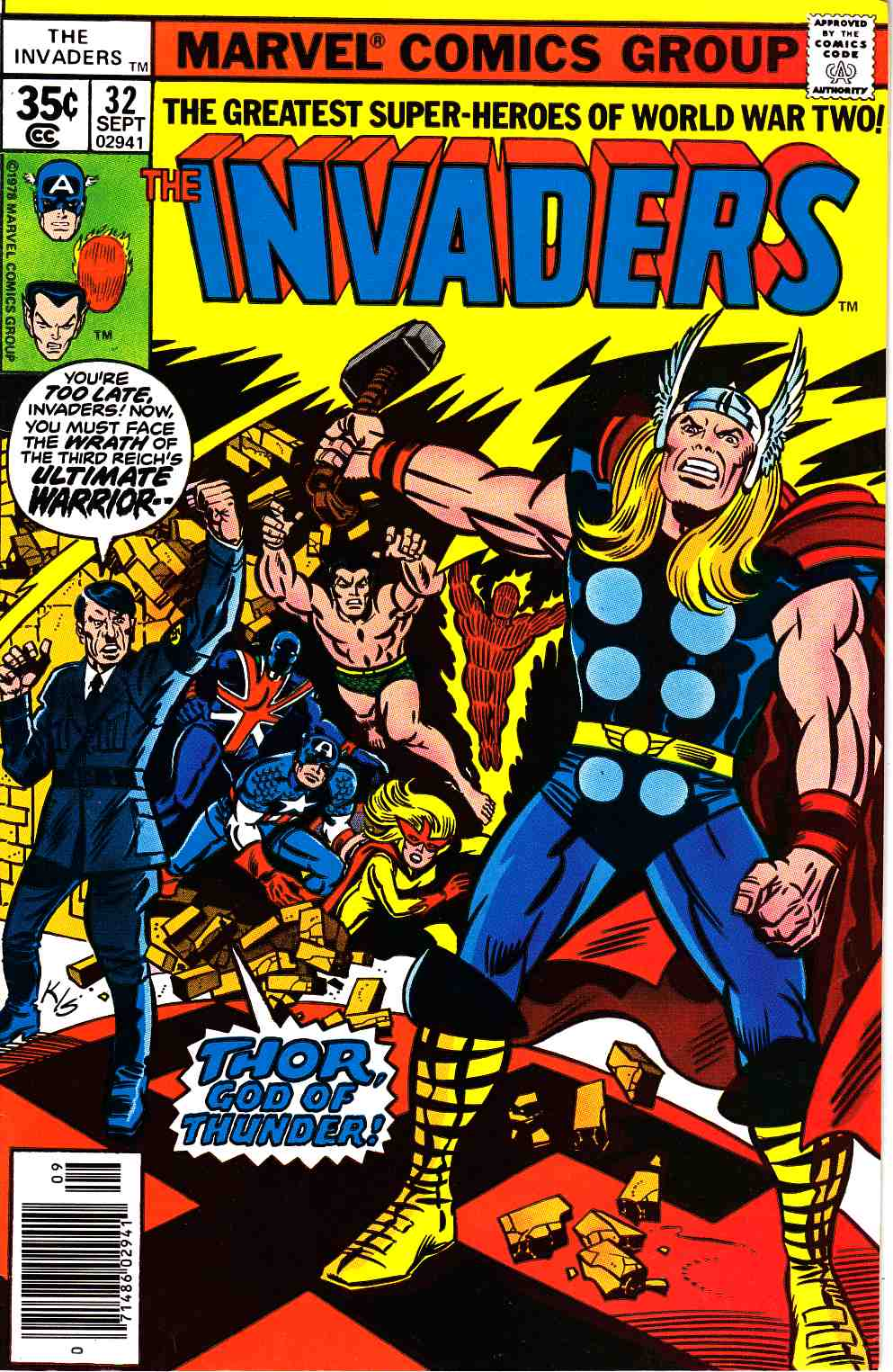 Invaders #32 Very Fine (8.0) [Marvel Comic]