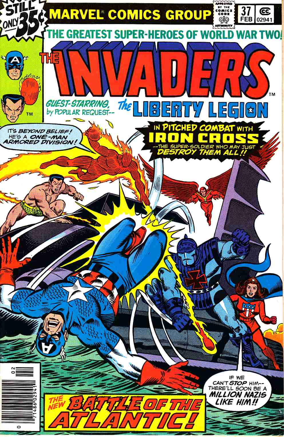 Invaders #37 Very Fine (8.0) [Marvel Comic]
