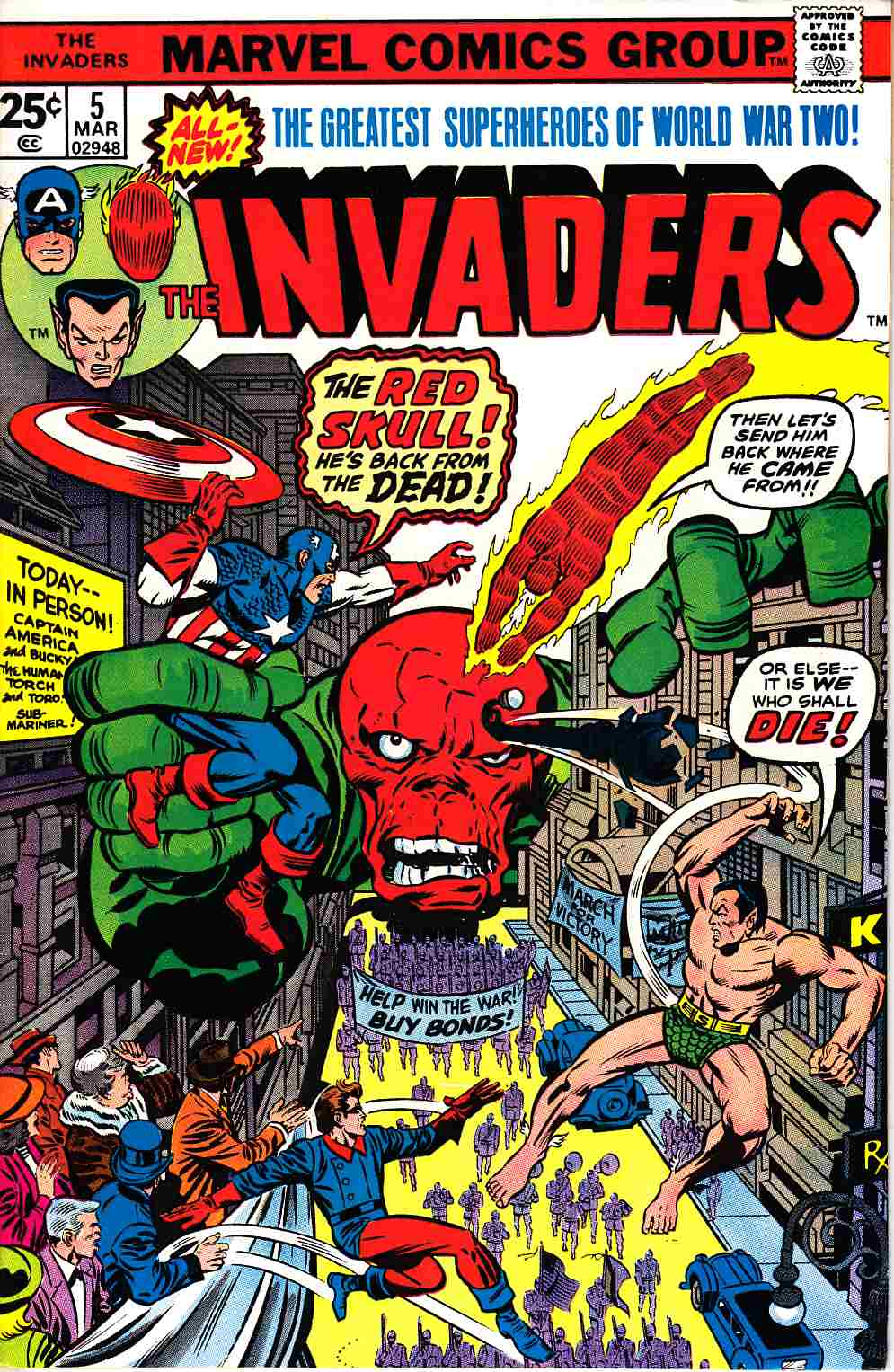 Invaders #5 Very Fine/Near Mint (9.0) [Marvel Comic]