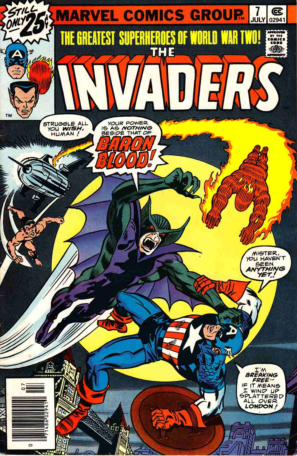 Invaders #7 Fine Plus (6.5) [Marvel Comic]