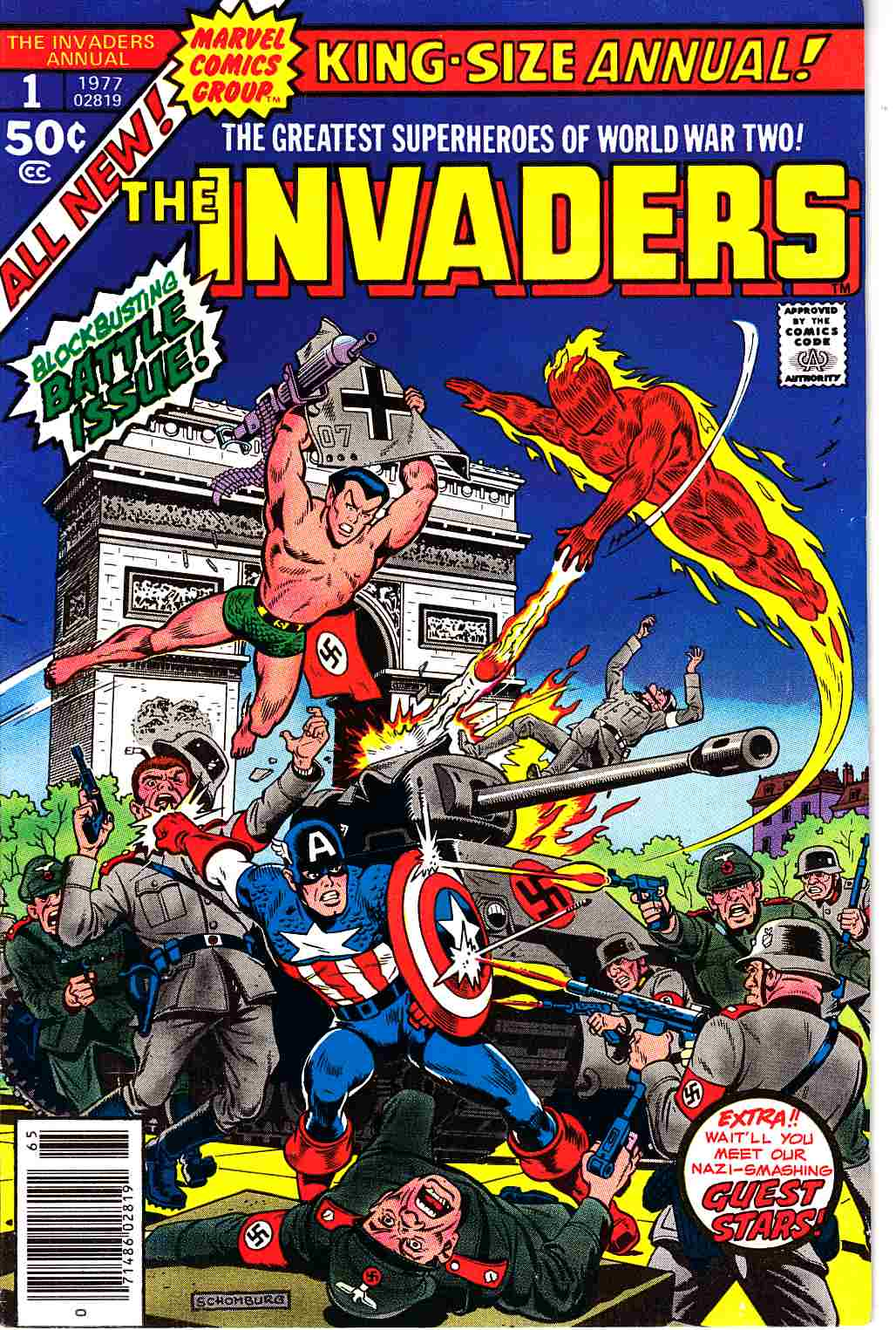Invaders Annual #1 Fine Plus (6.5) [Marvel Comic]