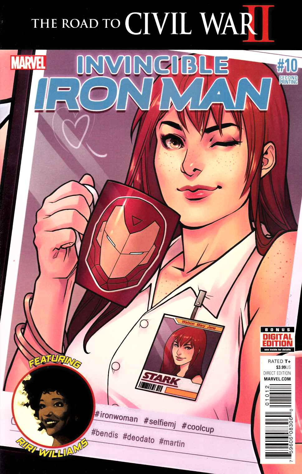 Invincible Iron Man #10 Second Printing Near Mint (9.4) [Marvel Comic] LARGE
