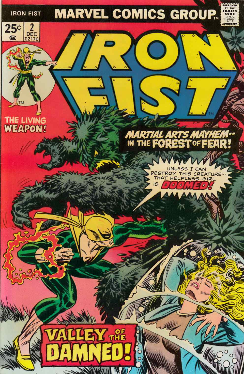 Iron Fist #2 Fine Plus (6.5) [Marvel Comic] THUMBNAIL
