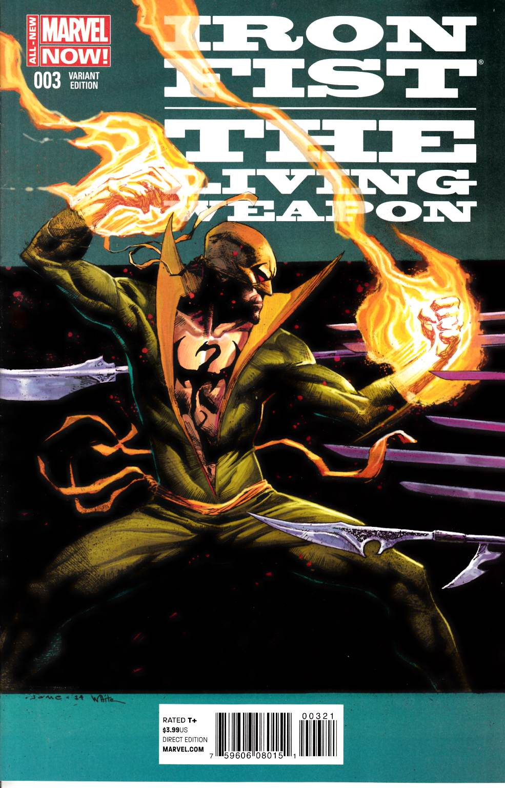 Iron Fist Living Weapon #3 Opena Variant Cover [Marvel Comic] THUMBNAIL