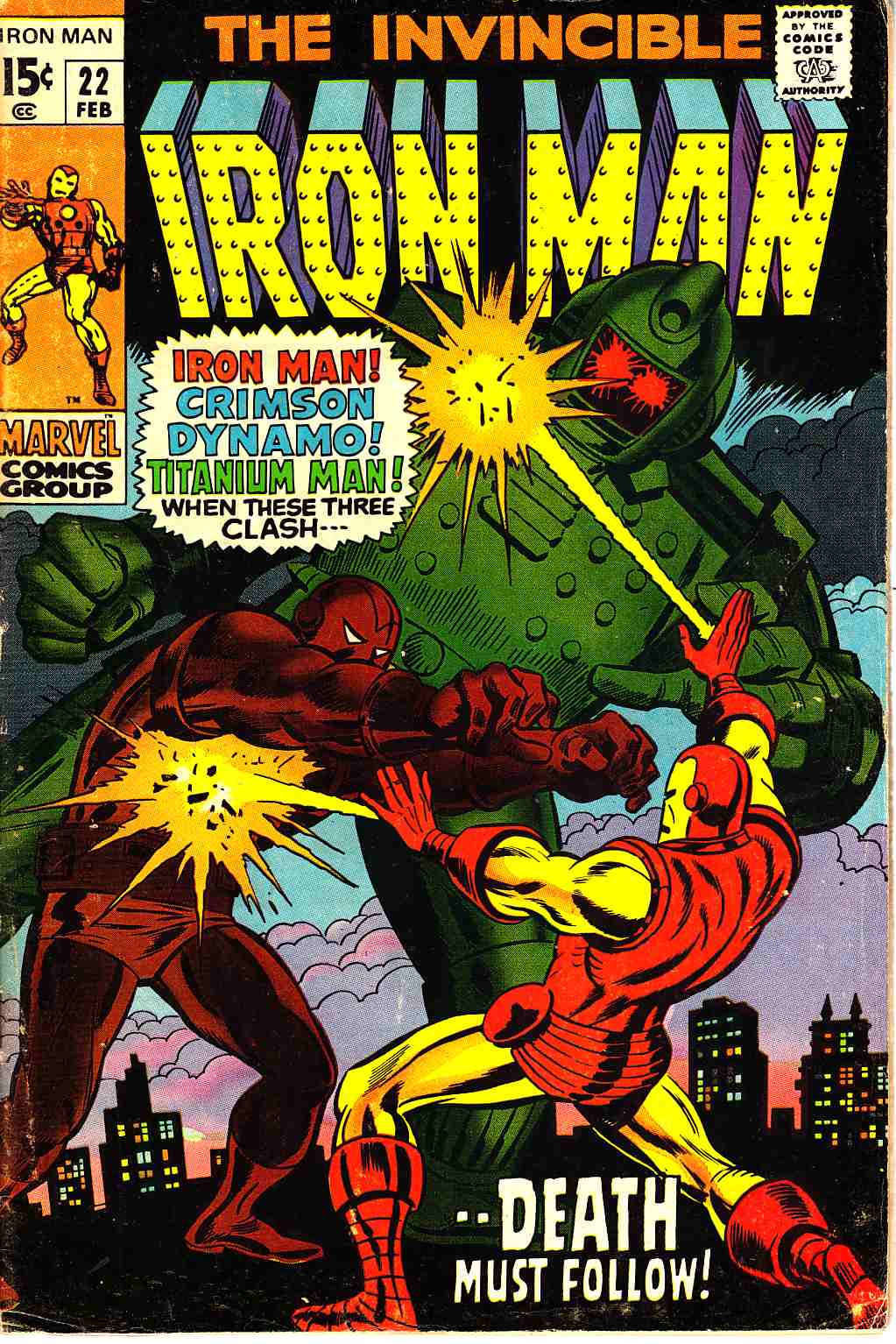 Iron Man #22 Very Good (4.0) [Marvel Comic] THUMBNAIL