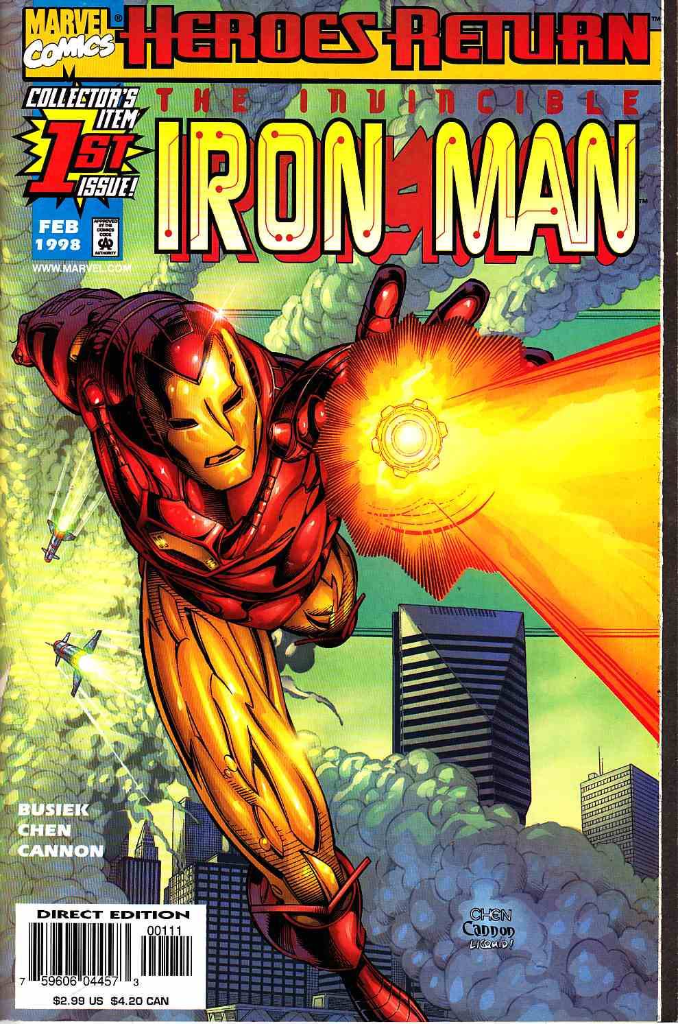 Iron Man #1 Near Mint (9.4) [Marvel Comic] THUMBNAIL