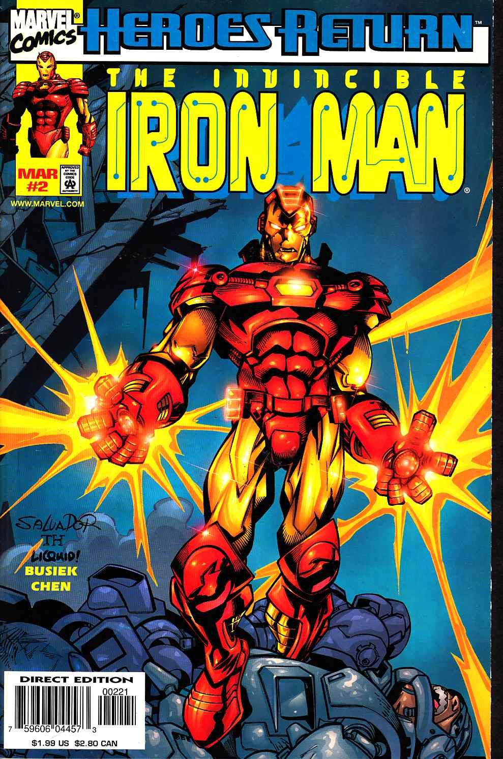 Iron Man #2 Cover B Near Mint (9.4) [Marvel Comic] THUMBNAIL