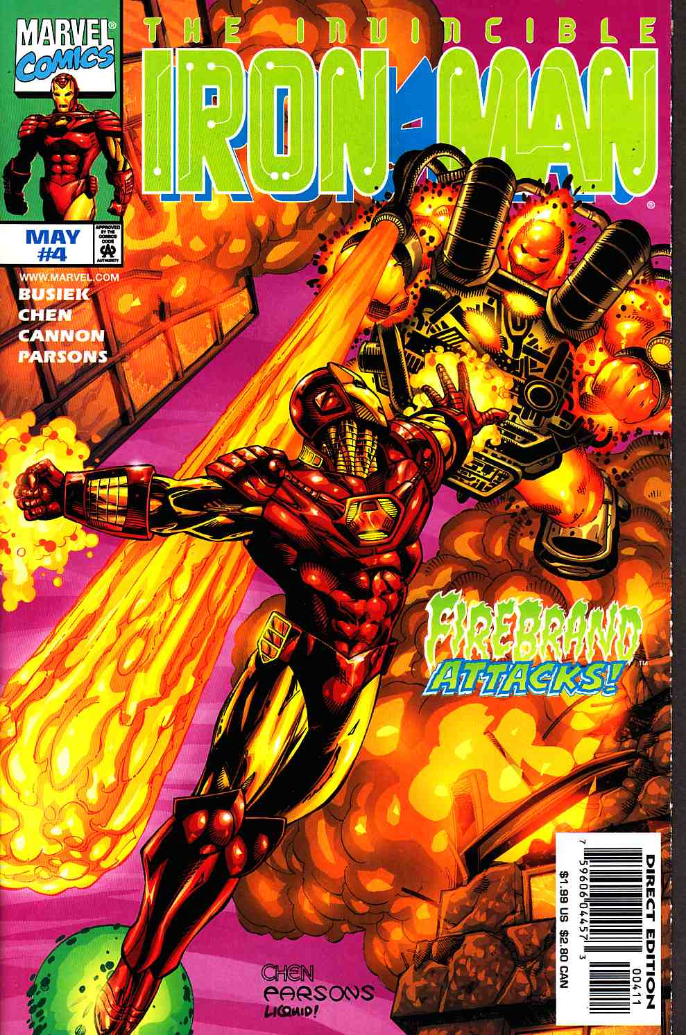 Iron Man #4 Near Mint (9.4) [Marvel Comic] THUMBNAIL