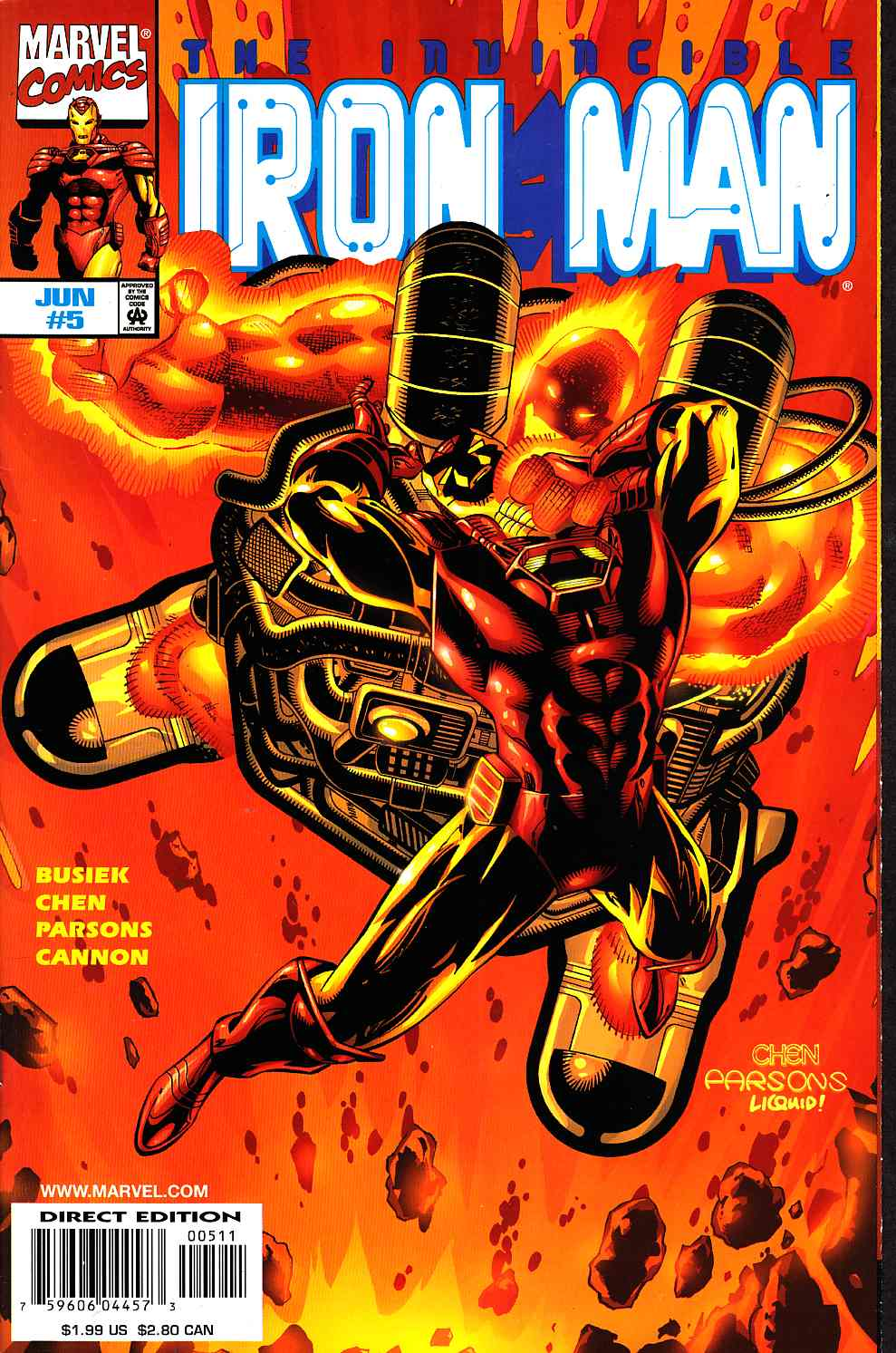 Iron Man #5 Near Mint (9.4) [Marvel Comic] THUMBNAIL