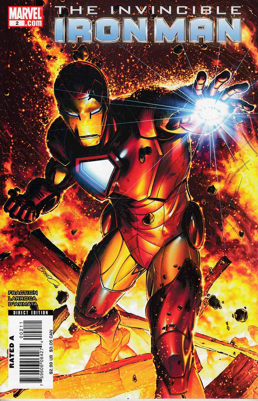 Invincible Iron Man #2 Cover B Near Mint (9.4) [Marvel Comic] LARGE