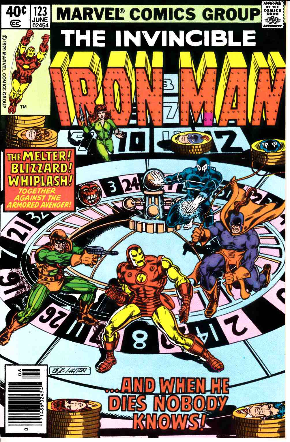 Iron Man #123 Newsstand Edition Fine/Very Fine (7.0) [Marvel Comic] LARGE