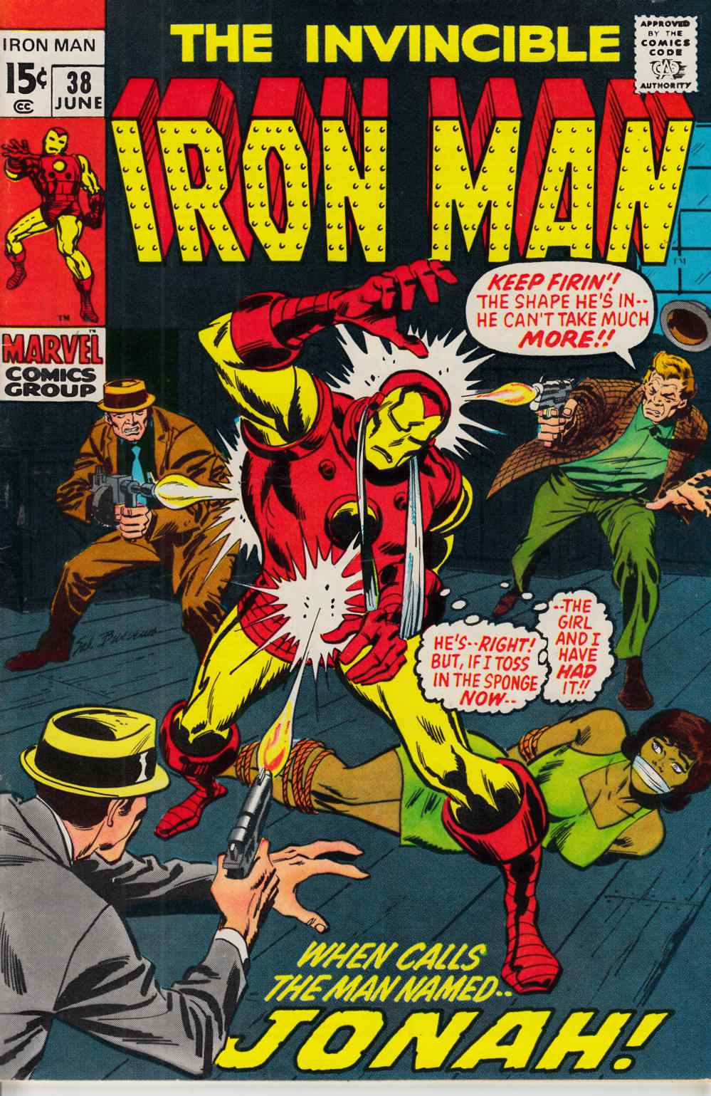 Iron Man #38 Very Fine (8.0) [Marvel Comic] THUMBNAIL