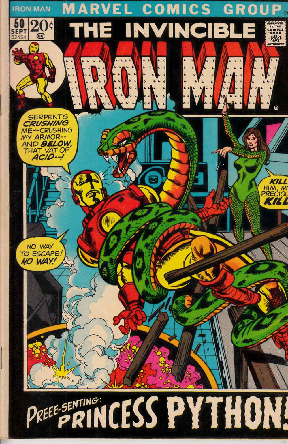 Iron Man #50 Very Good/Fine (5.0) [Marvel Comic] THUMBNAIL