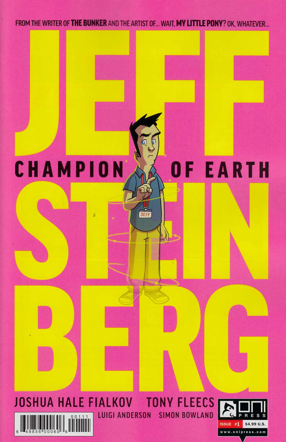Jeff Steinberg Champion of Earth #1 [Oni Press Comic] LARGE