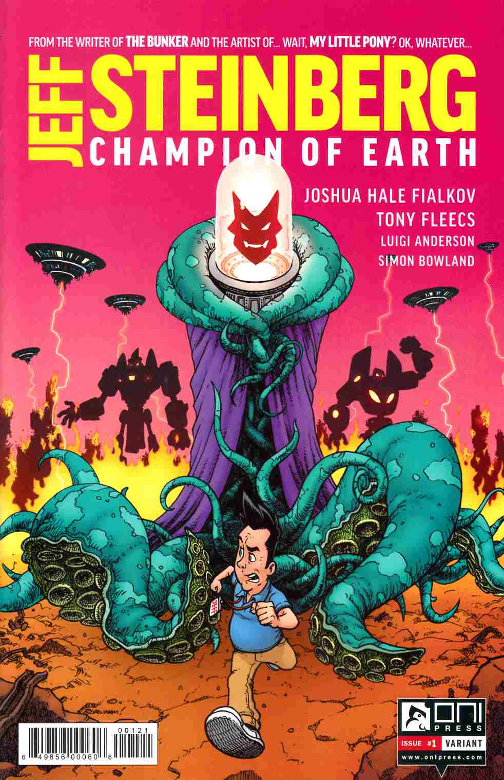 Jeff Steinberg Champion of Earth #1 Burnham Variant Cover [Oni Press Comic] LARGE
