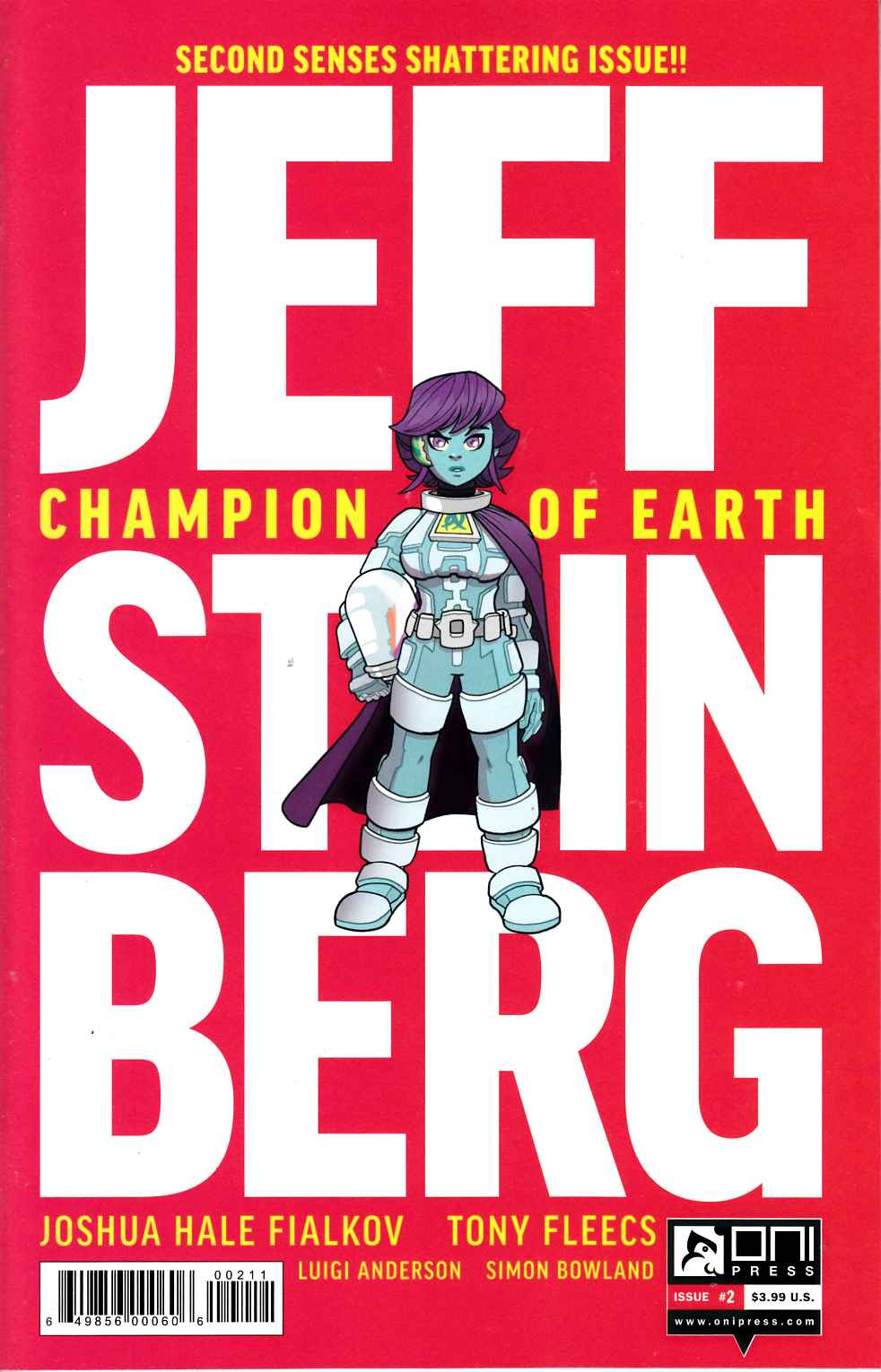 Jeff Steinberg Champion of Earth #2 [Oni Press Comic] THUMBNAIL