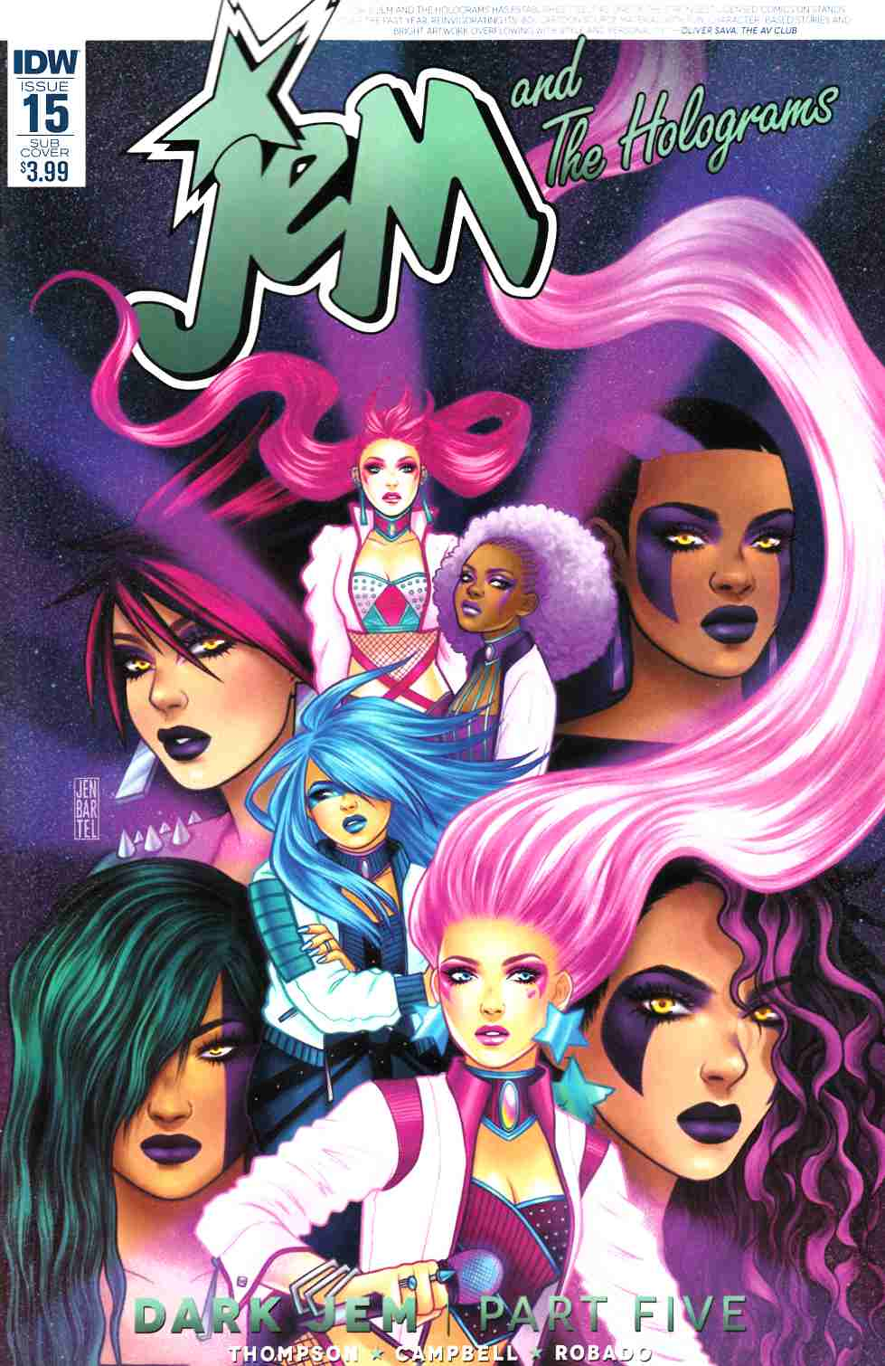Jem & the Holograms #15 Subscription Cover [IDW Comic] THUMBNAIL