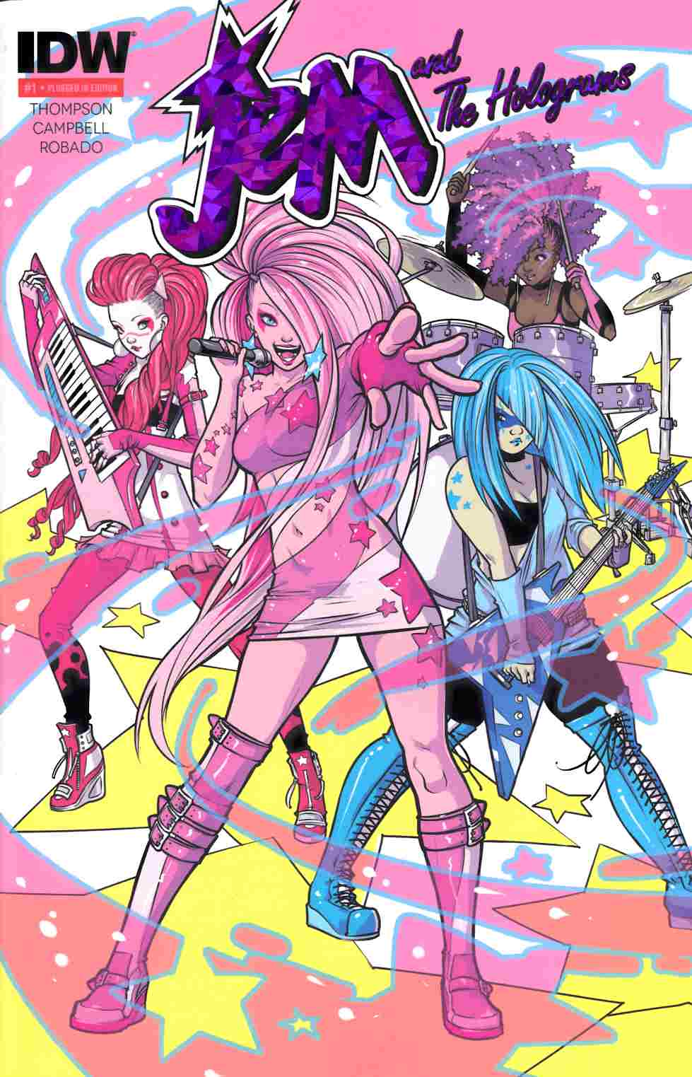 Jem & the Holograms #1 Plugged In Edition Third Printing [IDW Comic] THUMBNAIL