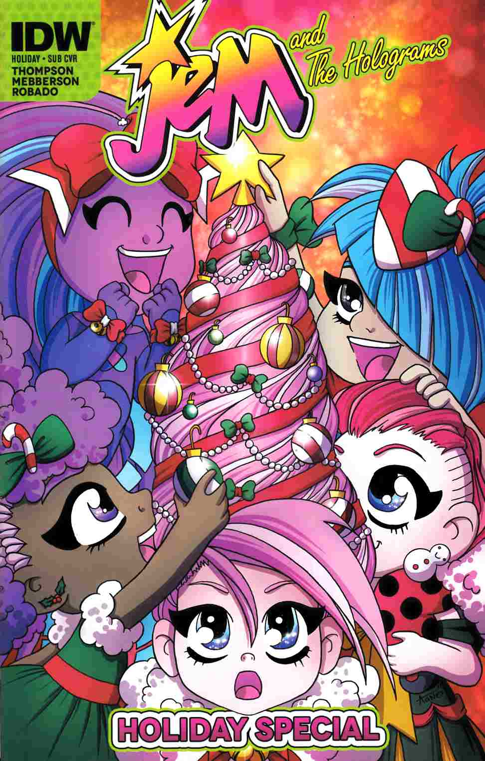 Jem & the Holograms Holiday Special Subscription Cover [IDW Comic] THUMBNAIL