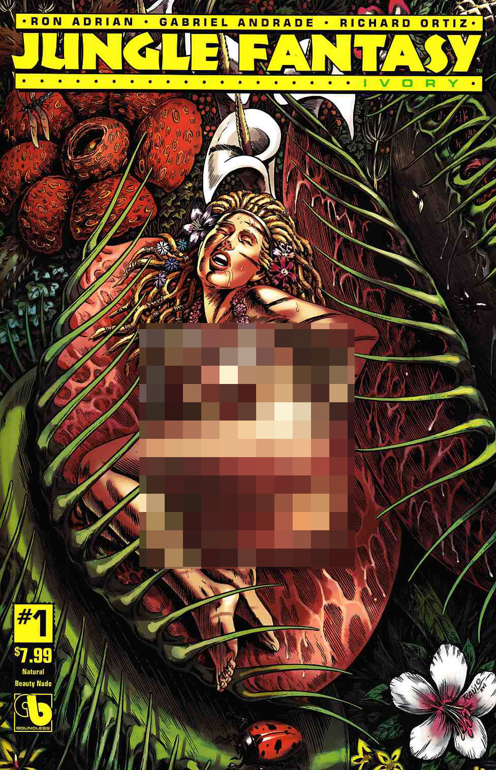 Jungle Fantasy Ivory #1 Natural Beauty Nude Cover [Boundless Comic] LARGE