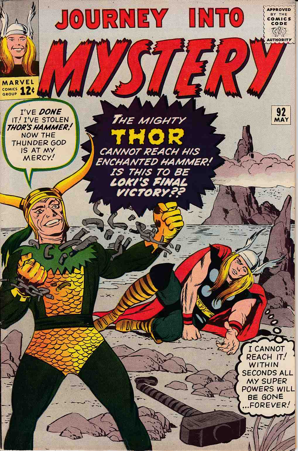 Journey Into Mystery Thor #92 Very Fine/Near Mint (9.0) [Marvel Comic] THUMBNAIL