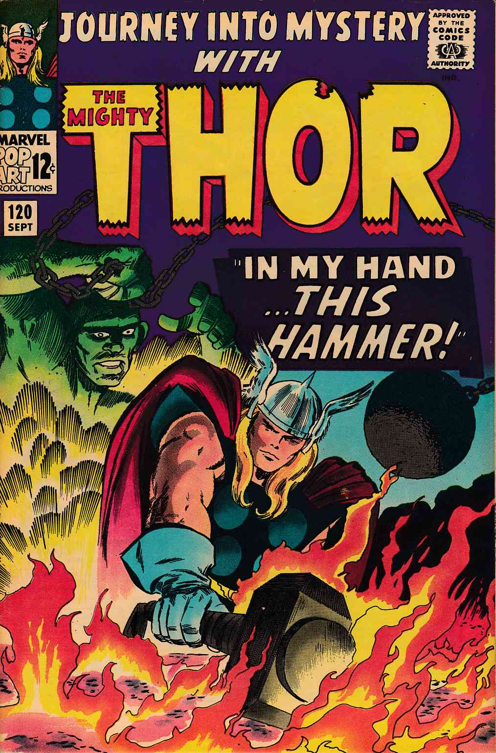 Journey Into Mystery Thor #120 Very Good (4.0) [Marvel Comic] THUMBNAIL