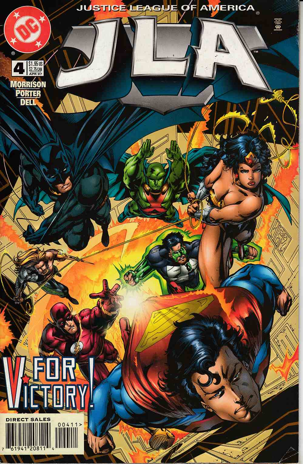JLA #4 Very Good (4.0) [DC Comic] THUMBNAIL