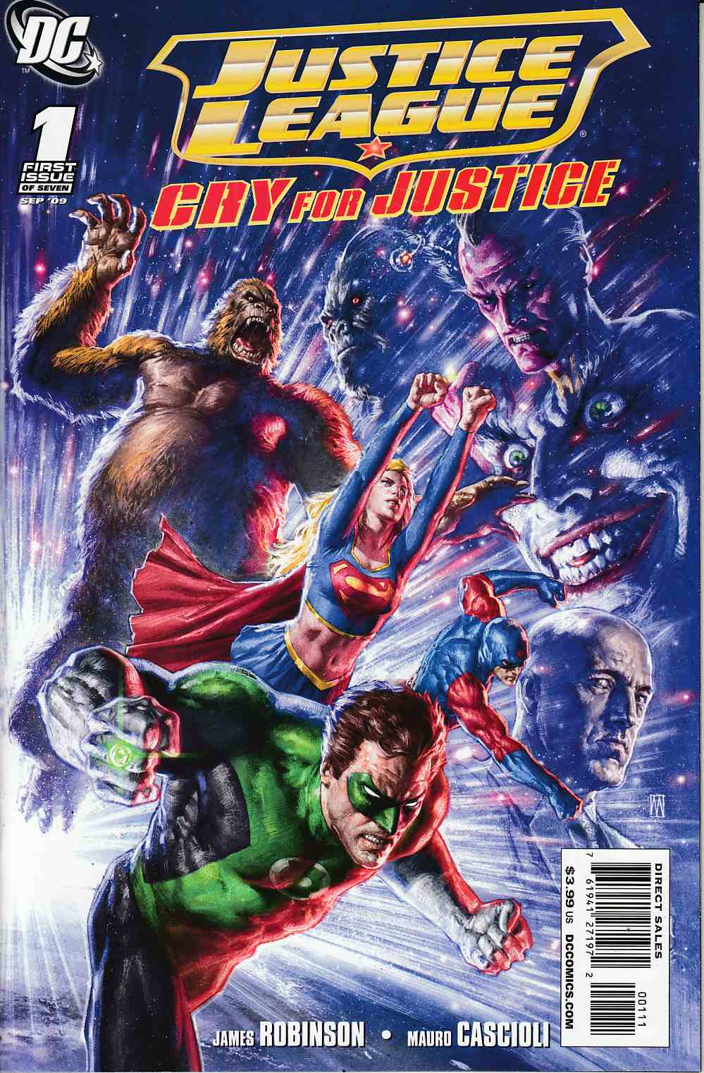 Justice League Cry for Justice #1 Cover B Near Mint (9.4) [DC Comic] THUMBNAIL