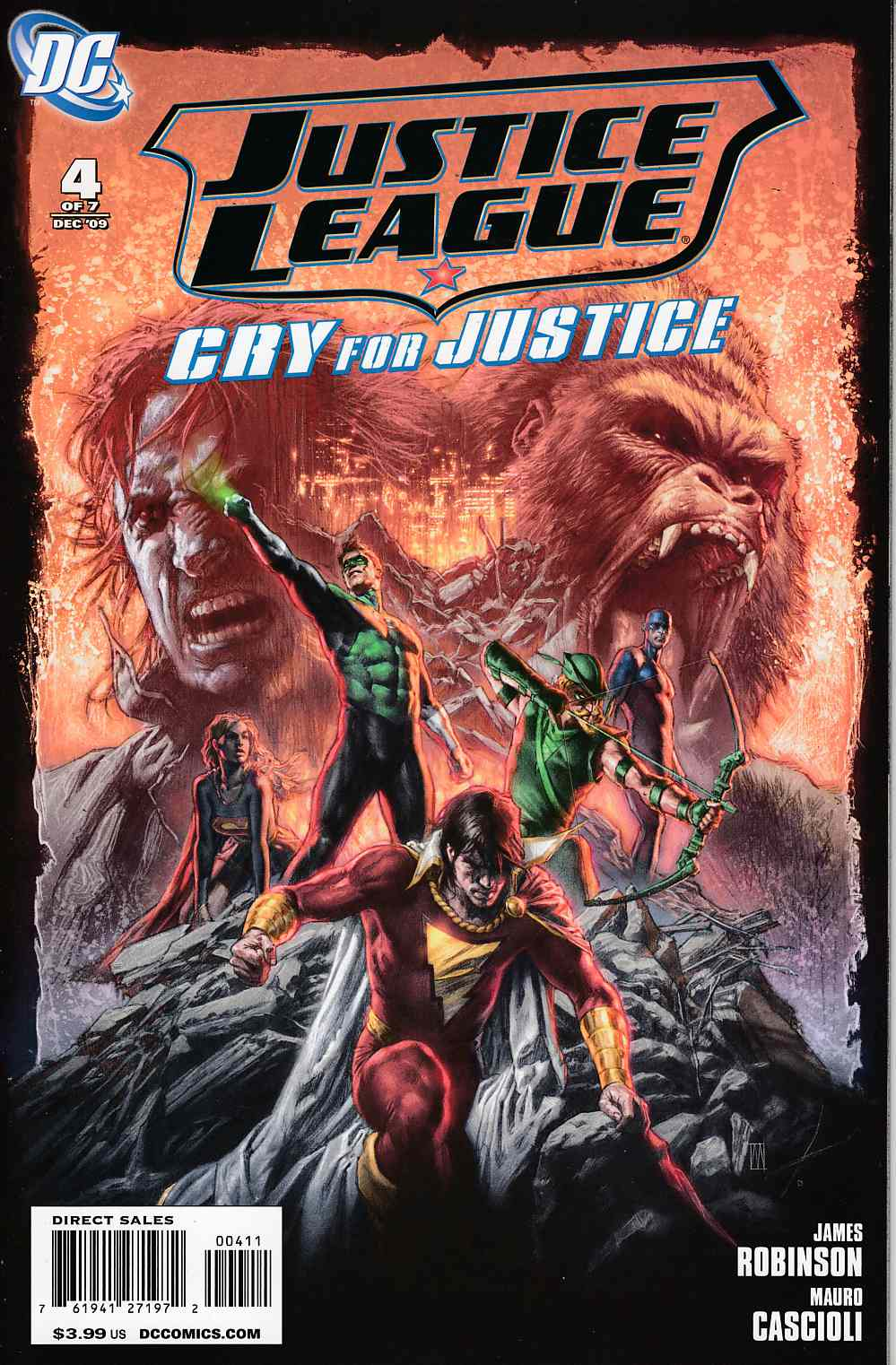 Justice League Cry for Justice #4 Near Mint (9.4) [DC Comic] THUMBNAIL