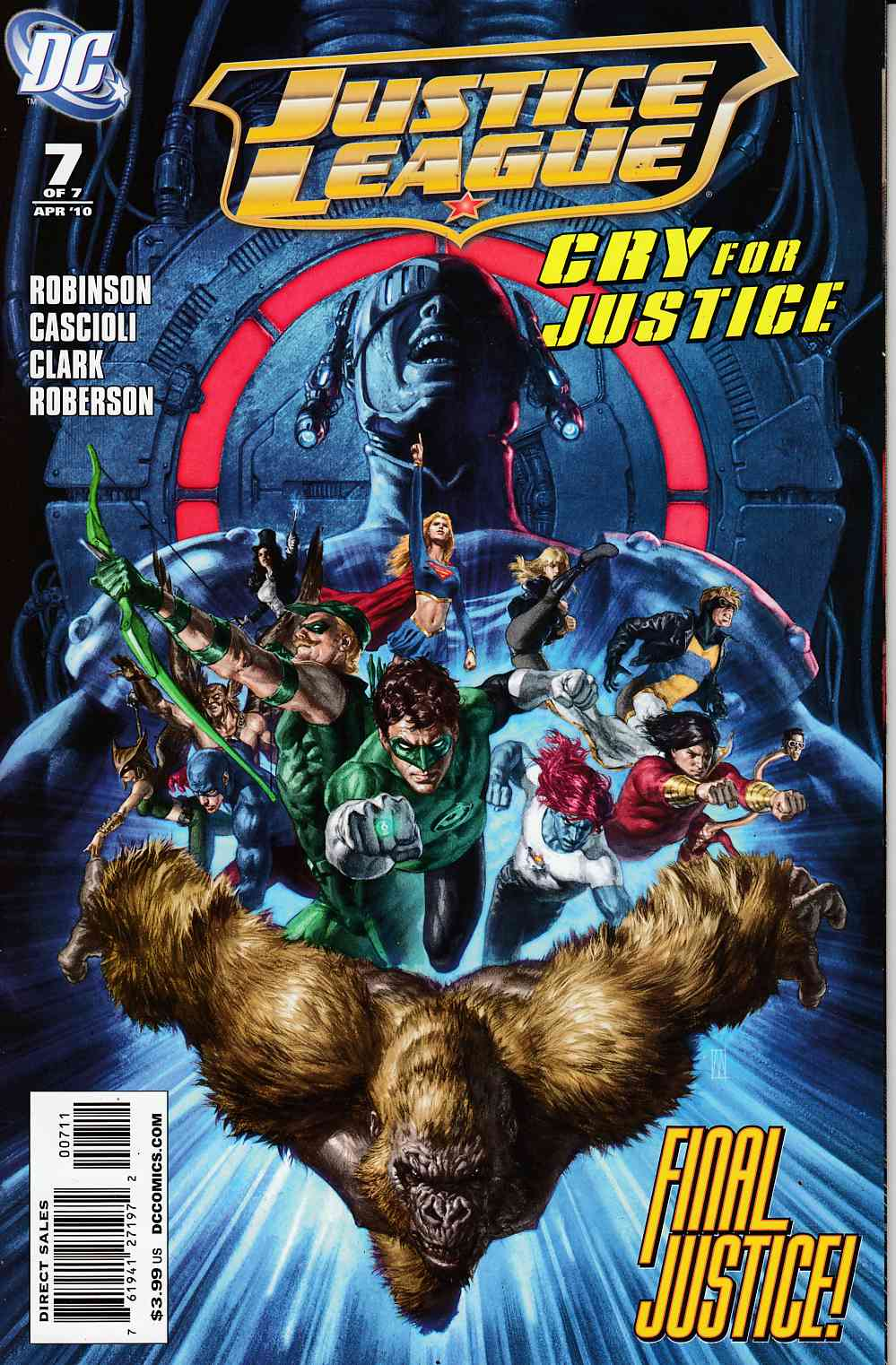 Justice League Cry for Justice #7 Near Mint (9.4) [DC Comic] THUMBNAIL