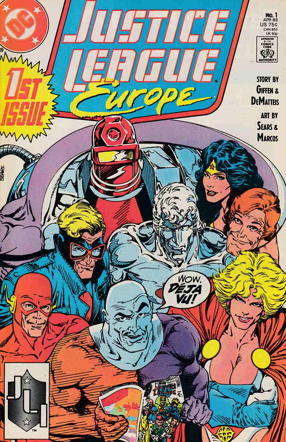 Justice League Europe #1 Near Mint (9.4) [DC Comic]_THUMBNAIL