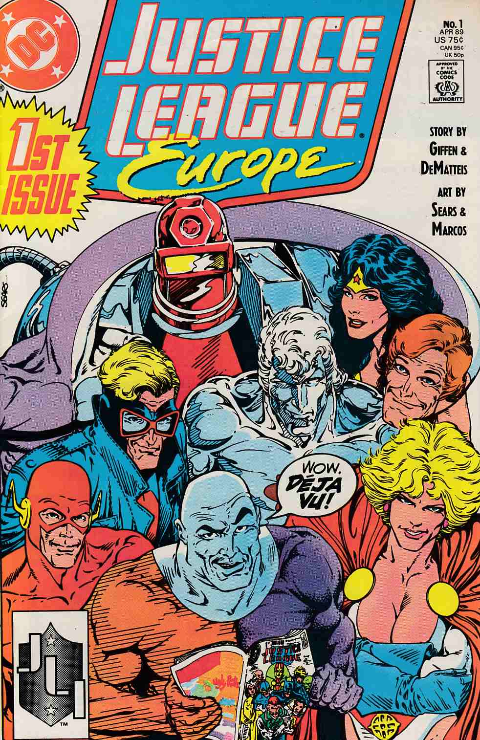Justice League Europe #1 Very Fine Minus (7.5) [DC Comic]_THUMBNAIL