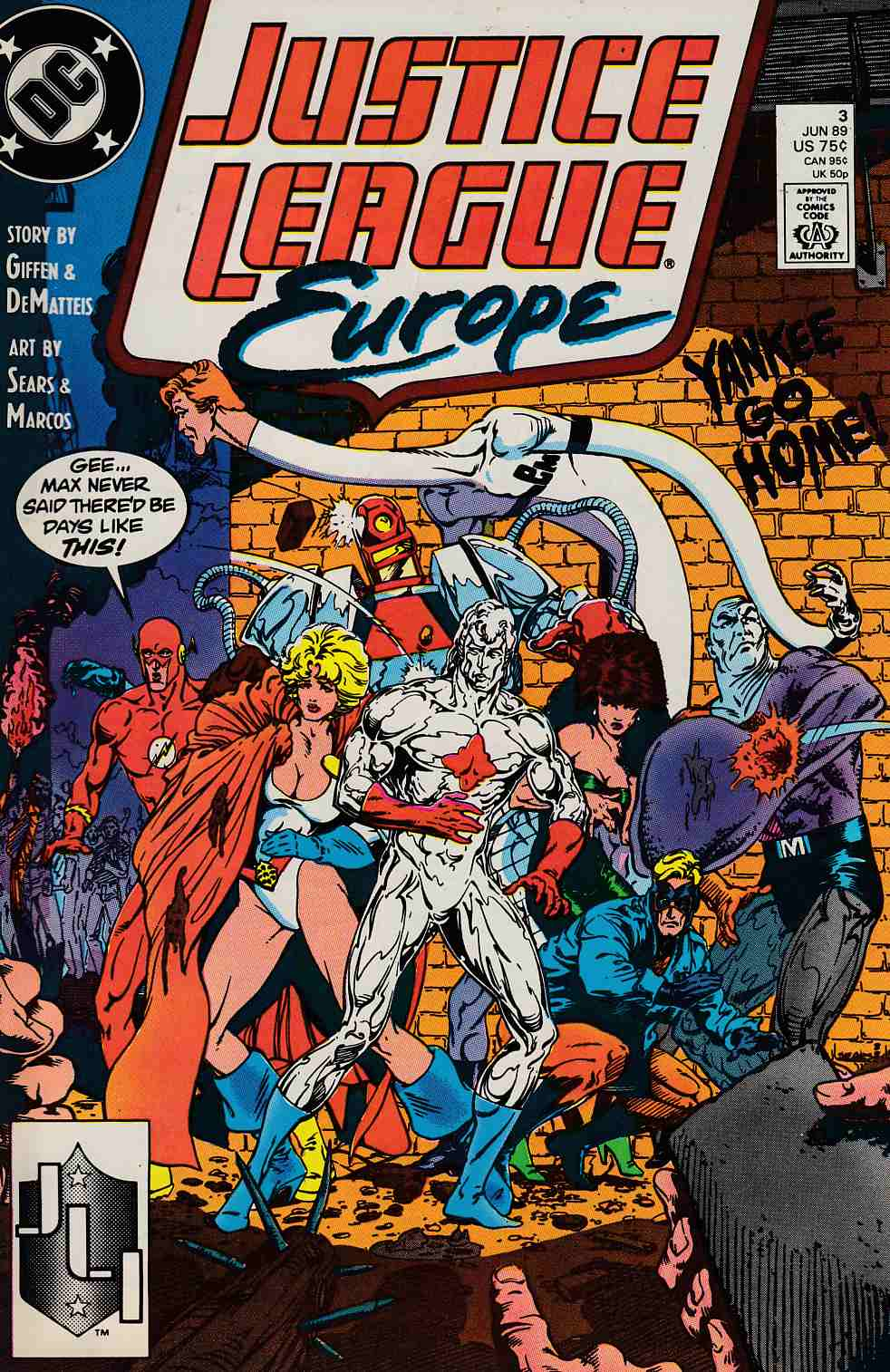 Justice League Europe #3 Near Mint (9.4) [DC Comic]_THUMBNAIL