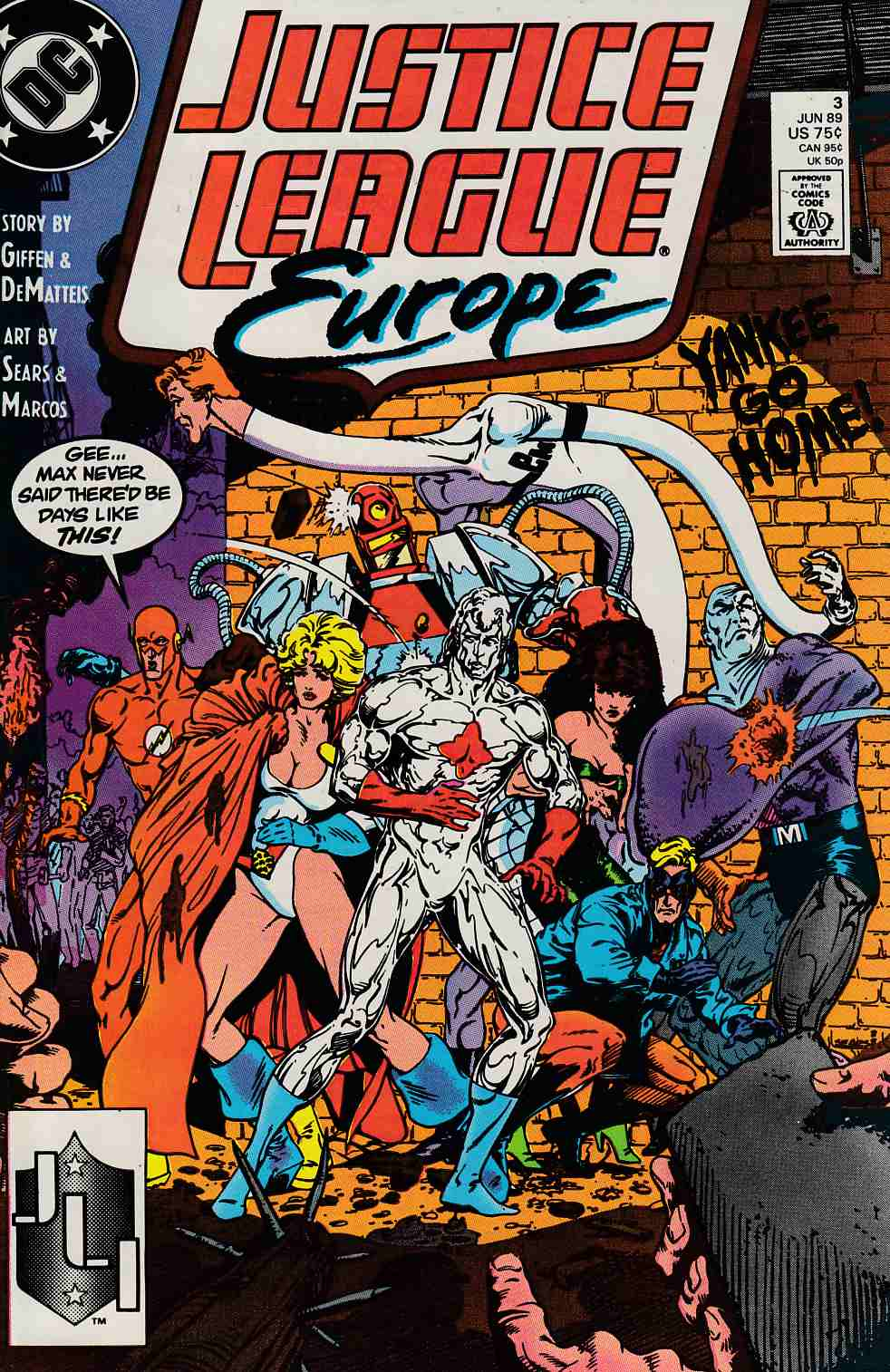 Justice League Europe #3 Very Fine (8.0) [DC Comic]_THUMBNAIL
